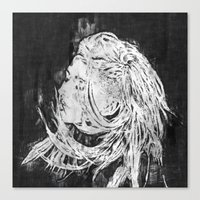 ellie goulding Canvas Prints featuring Ellie by Misha Libertee