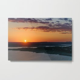 Calming warm sunset Metal Print