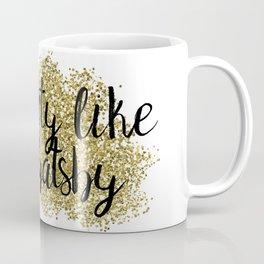 Party like Gatsby - golden jazz Coffee Mug