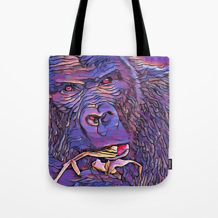 Feeding Gorilla Tote Bag