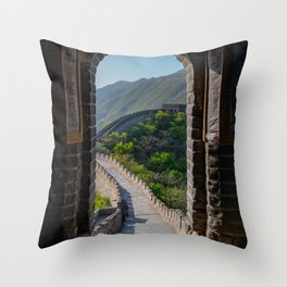The View to the Great Wall of China Throw Pillow