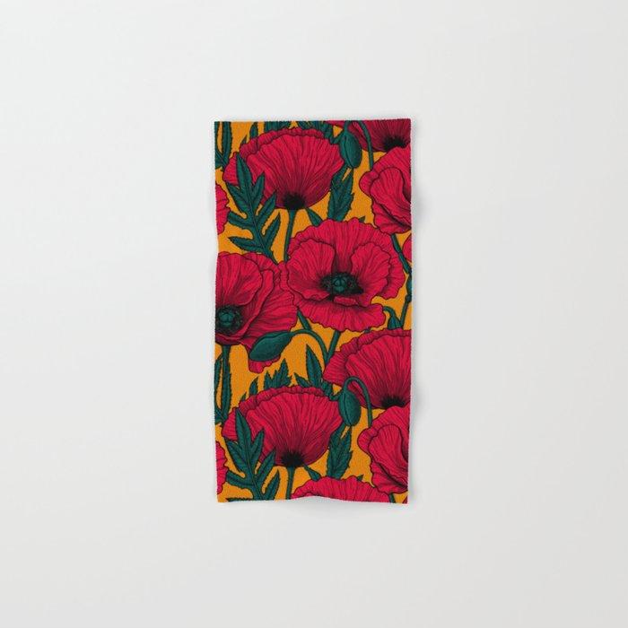 Red poppy garden    Hand & Bath Towel