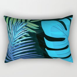 TROPICAL LEAVES & BLACK no3c1 Rectangular Pillow