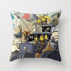 Road Warriors Throw Pillow