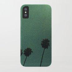 Grainy Palms iPhone X Slim Case