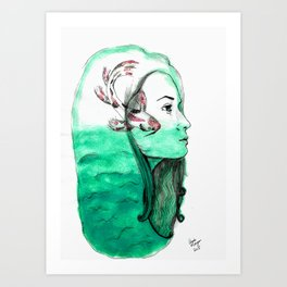 Koi Feelings Art Print