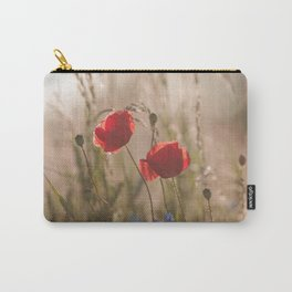 Poppy in sunrise my world Carry-All Pouch