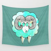 ram Wall Tapestries featuring Am's ram by AmDuf