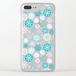 Magical snowflakes IV Clear iPhone Case