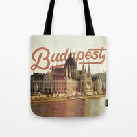 budapest Tote Bags featuring Budapest by Amigo Vic