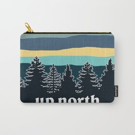 up north, teal & yellow Carry-All Pouch