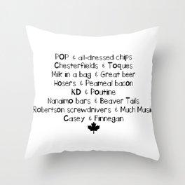 Canadian Love Throw Pillow