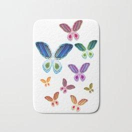 A Rainbow of Agate Butterflies Bath Mat
