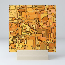 Abstract segmented 5 Mini Art Print