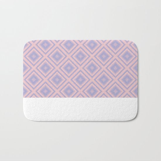 Starry Tiles in Rose Quartz and Serenity Bath Mat
