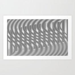 Crazy greylines 3 Art Print