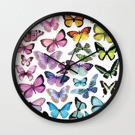 Butterfly Rainbow Wall Clock