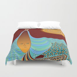 The Young Man And The Sea Duvet Cover