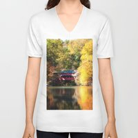 serenity V-neck T-shirts featuring Serenity by Captive Images Photography