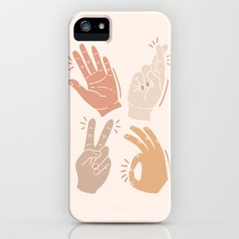 I Don't Know What to Do With My Hands iPhone Case
