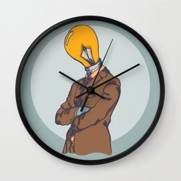 Light Bulb Head Wall Clock