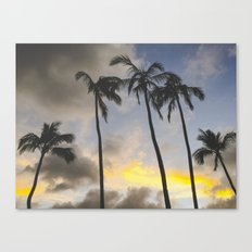 Sunset of the Palms Canvas Print