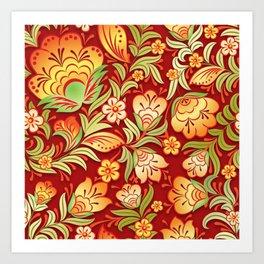 Art Flowers V9 Art Print