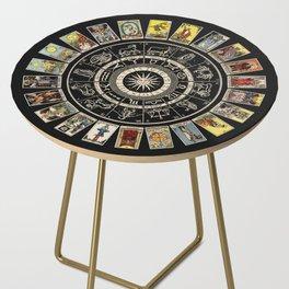 The Major Arcana & The Wheel of the Zodiac Side Table