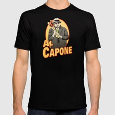 Al Capone LARGE Black Mens Fitted Tee