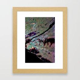 New York City from Space Framed Art Print