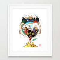 spirited away Framed Art Prints featuring Spirited away by Collectif PinUp!