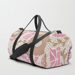 Pink & Gold Flowers Duffle Bag