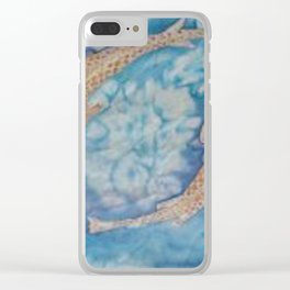 Koi Pond Batik Clear iPhone Case