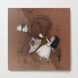 Lion Tamer--Walking Together Metal Print