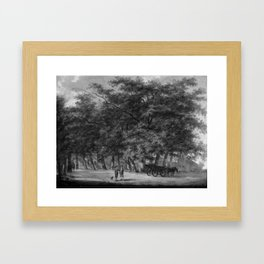 Egbert van Drielst - Route de campagne avec des arbres Framed Art Print