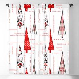 Seamless christmas applique patchwork pattern Blackout Curtain
