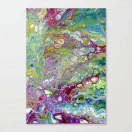 Freeform 28 - Vibrant Abstract Flow Acrylic Original Painting Canvas Print