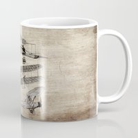 airplanes Mugs featuring airplanes by Кaterina Кalinich