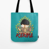 karma Tote Bags featuring Karma by Seez