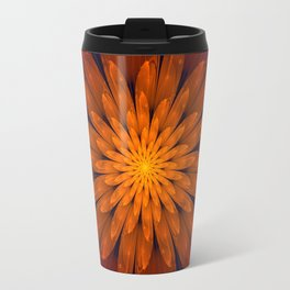 Fiery Fantasy Flower, fractal abstract Travel Mug