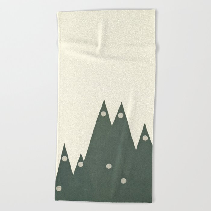 Moonlit Peaks Beach Towel