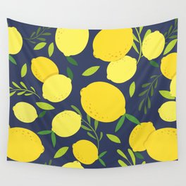 Freshly Picked Lemon Wall Tapestry