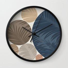 Vintage Plants Circles Wall Clock