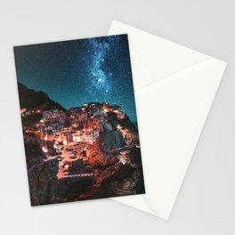 manarola by night Stationery Cards