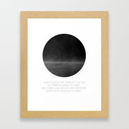 The Mist (white) Framed Art Print