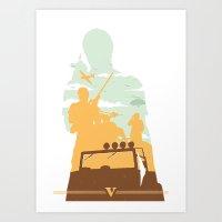 gta v Art Prints featuring GTA V - TREVOR PHILIPS by ahutchabove