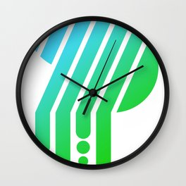 Saturated S Wall Clock
