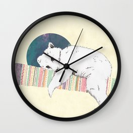 My bear is dreaming Wall Clock