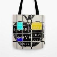 valentines Tote Bags featuring valentines by FeryalSurel