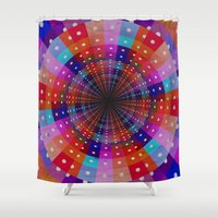 carnival Shower Curtains featuring Carnival  by Laura Santeler
